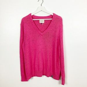 Court & Rowe Pink Nep Flecked V-Neck Sweater XL